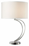 Dimond D2004 Charlotte Polished Chrome 27 Inch Tall Contemporary Table Lamp
