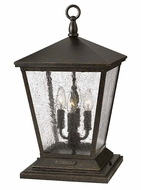 Hinkley 1437RB Trellis 19 Inch Tall Traditional 4 Lamp Pier Mount Lamp