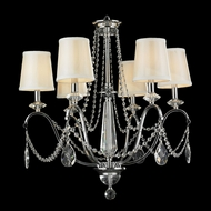 Worldwide W83156C26 Innsbruck Small 6 Lamp 26 Inch Diameter Chrome Chandelier With Shades