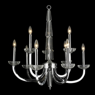 Worldwide W83158C29 Innsbruck Large Transitional 9 Candle Chrome Chandelier Lamp