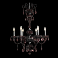 Worldwide W83178C25-CY Carnivale Small Chrome Cranberry Crystal 6 Candle Chandelier Light