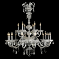 Worldwide W83178C36-CL Carnivale Large 36 Inch Diameter Clear Crystale Chandelier - 18 Candles