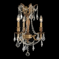 Worldwide W83302FG13 Windsor Mini French Gold Finish 13 Inch Diameter 3 Candle Chandelier