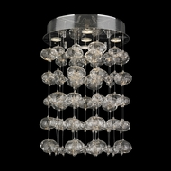 Worldwide W33153C16 Effervescence Large Contemporary Chrome Overhead Lighting - 24 Inches Tall