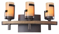 Kalco 3013 Emsworth 3 Lamp Tawny Port Finish Vanity Lighting