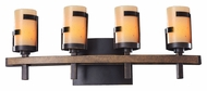 Kalco 3014 Emsworth Contemporary 4 Lamp Tawny Port Vanity Light Fixture