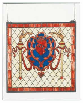 Meyda Tiffany 44908 Victorian Shield 20 Inch Stained Glass Square Home Stained Glass Window