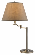 Cal BO-2350TB-BS Dana Transitional Style 28 Inch Tall Brushed Steel Table Lighting