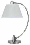 Cal BO-2449TB-BS Kinder Transitional Brushed Steel 23 Inch Tall Table Top Lamp