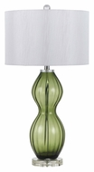 Cal BO-2453TB-GN Green Glass Transitional Style Table Light