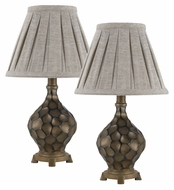 Cal BO-2345AC/2 Transitional Iron Finish 17 Inch Tall Bedroom Lamps - Pair