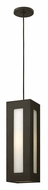 Hinkley 2192BZ Dorian Outdoor 6 Inch Diameter Modern Bronze Hanging Light Fixture