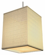 AFX BKP118SNSCT-CR Transitional Cream Fabric 8 Inch Wide Ceiling Pendant Lighting