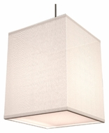 AFX BKP118SNSCT-WH 8 Inch Wide White Fabric Shade Drop Lighting Fixture