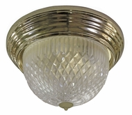 AFX C213PBPLT 11 Inch Diameter Polished Brass Transitional Ceiling Lamp