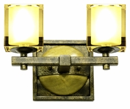 Kalco 2932 Swindon 12 Inch Wide 2 Lamp Bath Sconce Lighting - Florence Gold