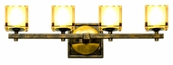 Kalco 2934 Swindon 27 Inch Wide 4 Lamp Florence Gold Vanity Lighting