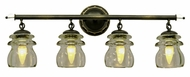 Kalco 6314 Brierfield 4 Lamp Antique Copper Vanity Light Fixture