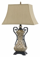 Cal BO-2434TB Antique Silver Finish 30 Inch Tall Living Room Table Lamp