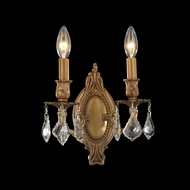 Worldwide W23301FG9 Windsor French Gold 9 Inch Wide 2 Candle Wall Lighting Sconce