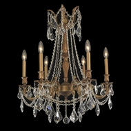 Worldwide W83305FG23 Windsor Medium 6 Candelabra Chandelier - French Gold