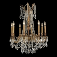 Worldwide W83306FG24 Windsor Medium 8 Candle French Gold Hanging Chandelier