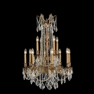 Worldwide W83309FG24 Windsor 24 Inch Diameter 12 Candle French Gold Chandelier