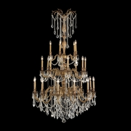 Worldwide W83311FG38 Windsor Large 38 Inch Diameter 25 Candelabra Chandelier Lighting