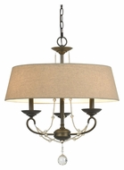 Cal FX-3532/3 Dawson Traditional 22 Inch Diameter Oil Bronze Chandelier With Shade