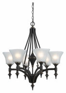 Cal FX-3541/6 Rockwood Large Traditional 26 Inch Diameter Lighting Chandelier - 6 Lamps