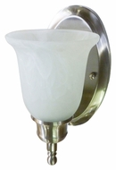AFX TCS113SNSCT Satin Nickel 11 Inch Tall Transitional Wall Light Fixture