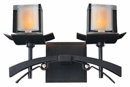 Kalco 2982 Nijo 15 Inch Wide Xenon 2 Lamp Bathroom Lighting - Tawny Port