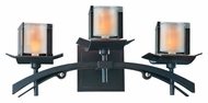 Kalco 2983 Nijo 3 Lamp Tawny Port Finish Asian Vanity Lighting