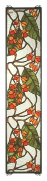 Meyda Tiffany 35971 Bittersweet 42 Inch Tall Stained Glass Window Wall Décor