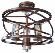 Kalco 6605 Eternity 3 Lamp Etruscan Bronze Semi Flush Lighting Fixture