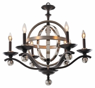 Kalco 6597 Rothwell 28 Inch Diameter Contemporary Candle Chandelier - Polished Nickel