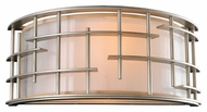 Kalco 6480 Stanford Tarnished Silver 14 Inch Wide Modern Wall Sconce