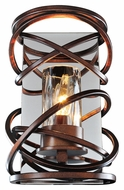 Kalco 6601 Eternity Etruscan Bronze 10 Inch Tall Modern Wall Sconce Light
