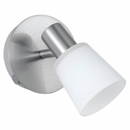 EGLO 89942A Gino Matte Nickel Finish 6 Inch Tall Wall Sconce Light Transitional