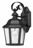Hinkley 1674BK Edgewater Small 11 Inch Tall Black Outdoor Sconce Lighting
