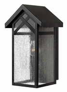 Hinkley 1790BK Holbrook Medium 15 Inch Tall Black Transitional Outdoor Wall Sconce