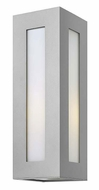 Hinkley 2194TT Dorian Medium Outdoor 18 Inch Tall Titanium Finish Sconce Light Fixture