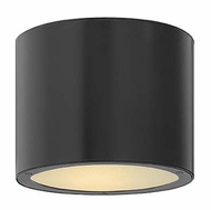 Hinkley 1663SK Luna Flush Mount Satin Black Exterior Modern Ceiling Light Fixture