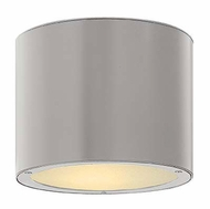 Hinkley 1663TT Luna Modern Titanium Finish 8 Inch Diameter Outdoor Overhead Lighting