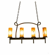 Kalco 2715 Bentham Natural Iron 32 Inch Wide 4 Lamp Kitchen Island Lighting Pendant With Glass Options