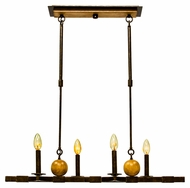 Kalco 2935 Swindon 4 Candle Florence Gold Kitchen Island Light - 32 Inches Wide