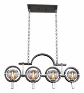 Kalco 6306 Wisbech 4 Lamp 31 Inch Wide Contemporary Old Bronze Island Lighting