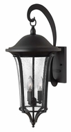 Hinkley 1385BK Chesterfield Exterior 23 Inch Tall Large 3 Lamp Wall Light Sconce - Black