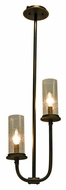 Kalco 2717 Bentham Natural Iron 11 Inch Diameter 2 Lamp Mini Chandelier Lighting With Finish Options