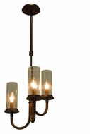 Kalco 2718 Bentham Natural Iron 3 Lamp Traditional 13 Inch Wide Mini Hanging Chandelier